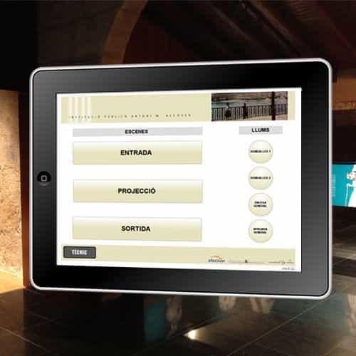 Control con AMX desde iPad