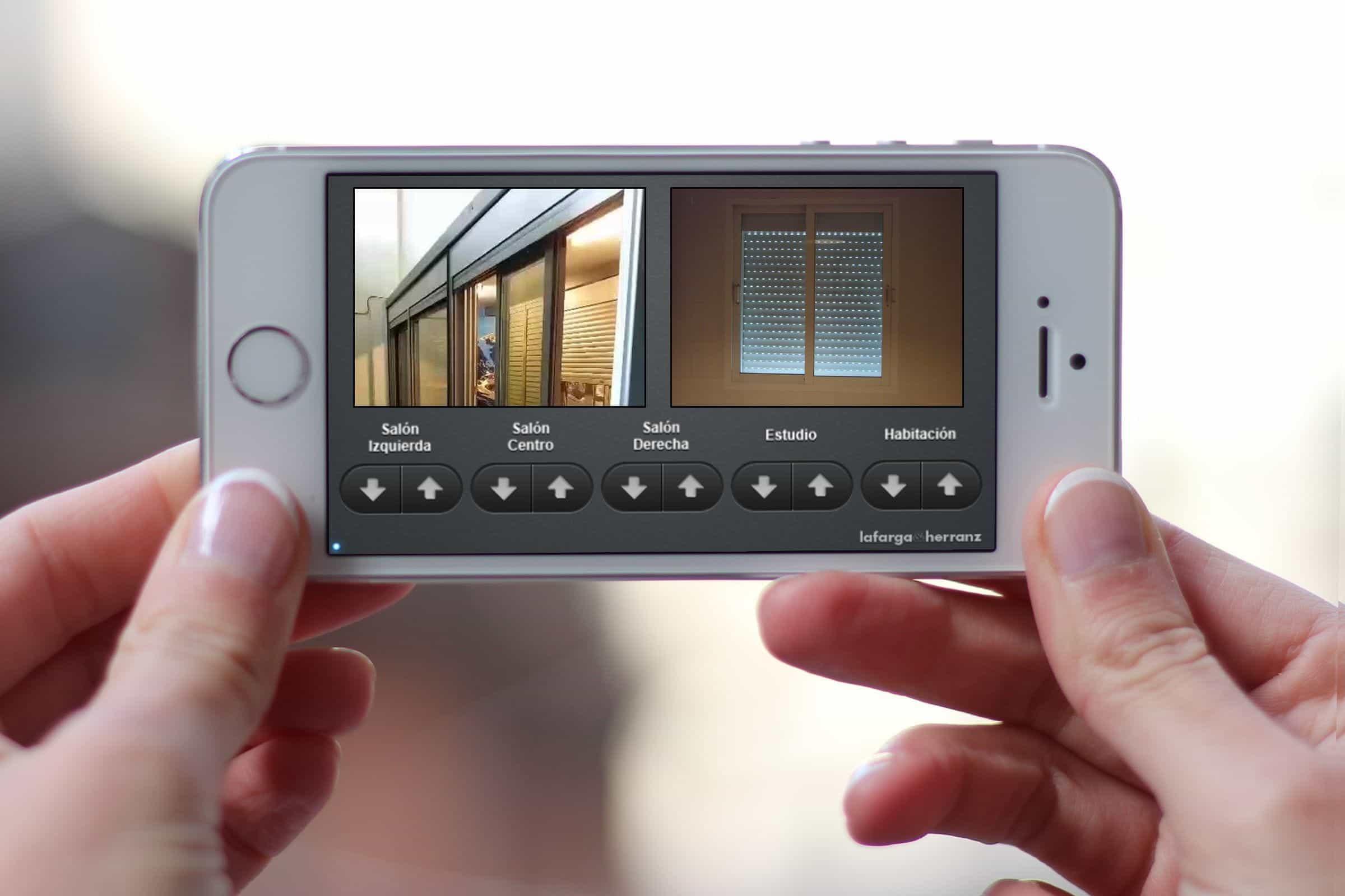 Aplicación que controla 5 persianas con el móvil