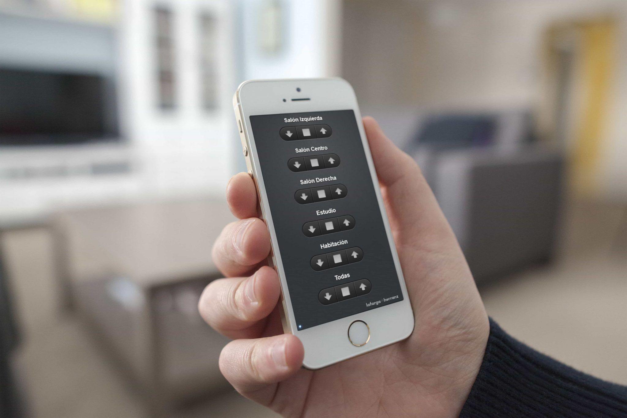 Control de persianas con el móvil