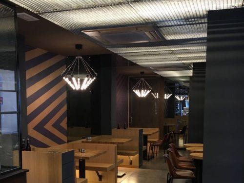 Control de iluminación y sonorización en una hamburguesería 5