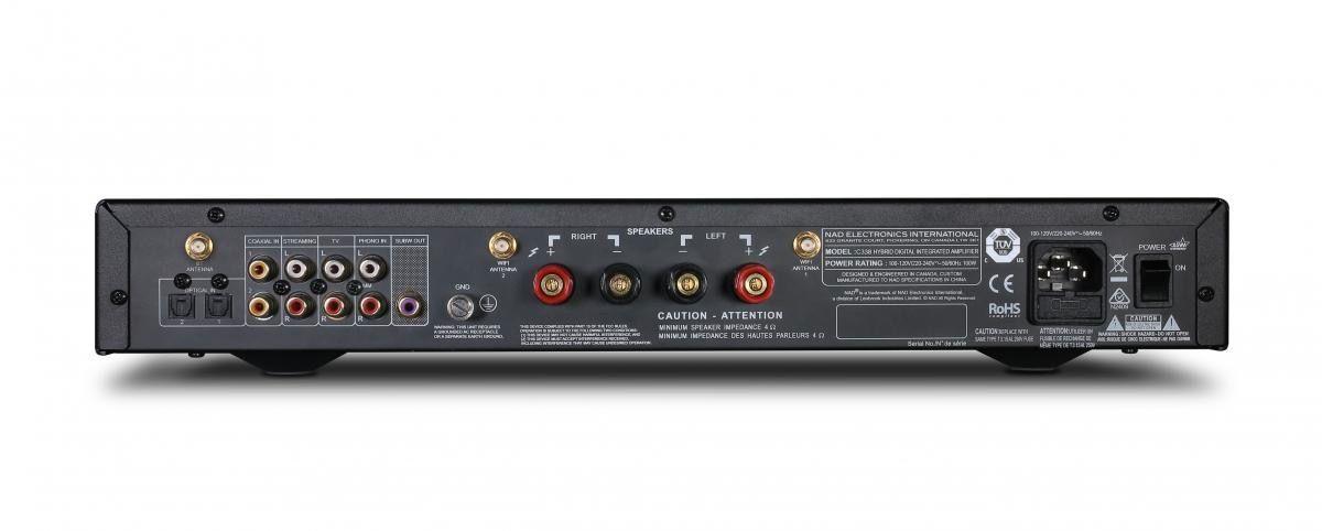 Parte trasera de un amplificador integrado
