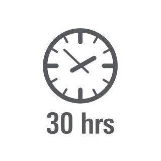 30 horas de autonomía