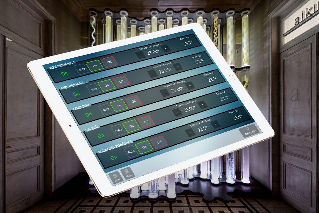 Control de clima mediante iPad