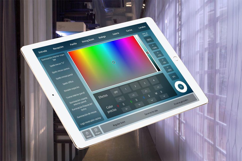 Control mediante iPad de la iluminación
