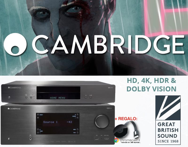 Promoción Cambridge Audio HD, 4K, HDR & DOLBY VISION