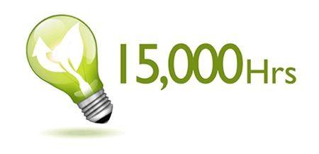 15.000 horas de lámpara