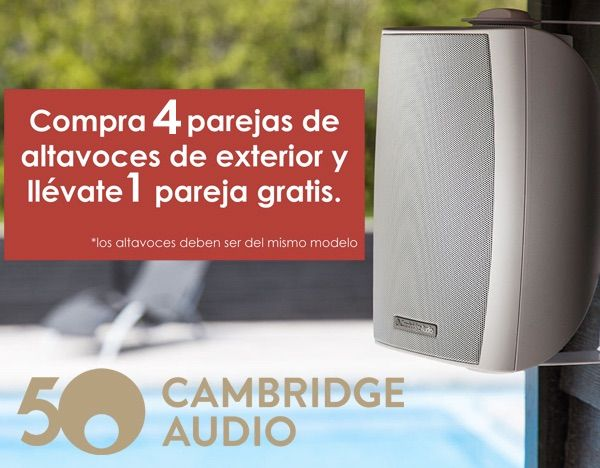 Promoción altavoces Cambridge Audio ES20