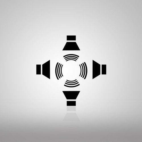 Icono altavoces satélite