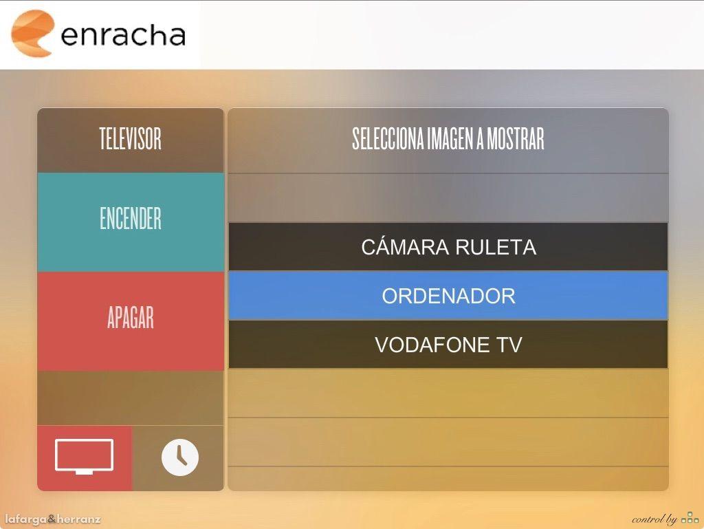 Aplicación de control de audiovisuales con Crestron