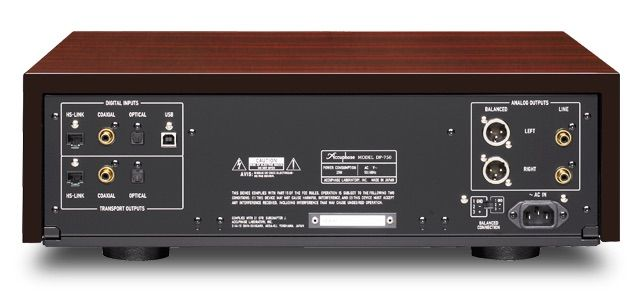 Parte trasera del Accuphase DP-750
