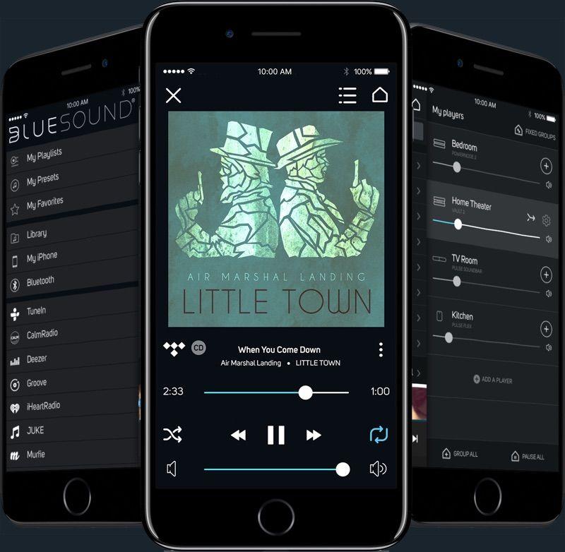 App bluOS Controller en iPhone