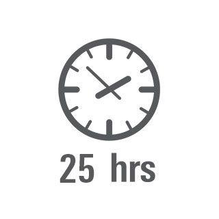 Autonomía de 25 horas
