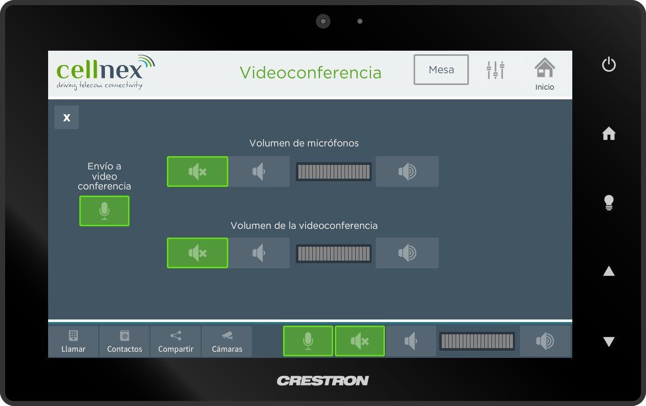 Control de videoconferencia