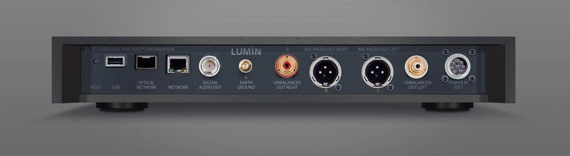 Parte trasera del Lumin X1