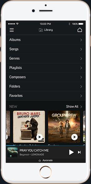 Controla la música con el iPhone